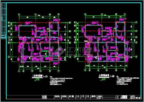 某精致小别墅cad设计建筑结构施工图-图2