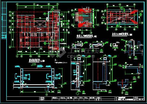 某精致小别墅cad设计建筑结构施工图-图3