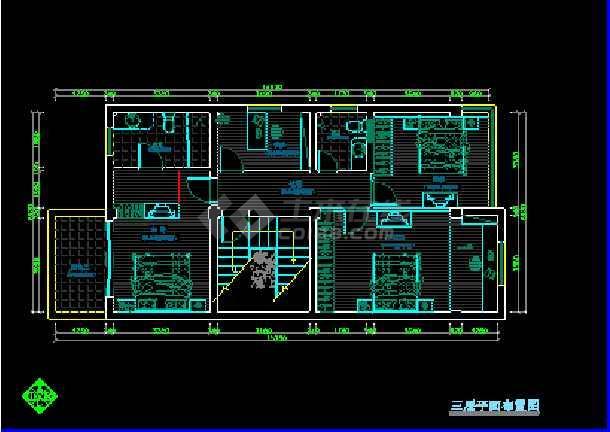 某地方某全套室内设计装修cad施工平立面图纸-图1