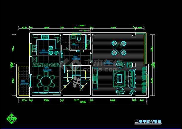 某地方某全套室内设计装修cad施工平立面图纸-图2