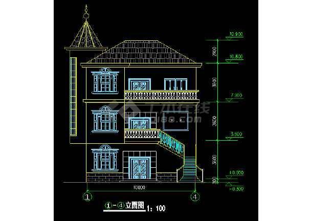 某地方农村别墅设计图自建房cad方案图