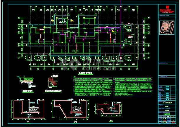 二十五层高层住宅楼地基结构设计施工图纸-图1