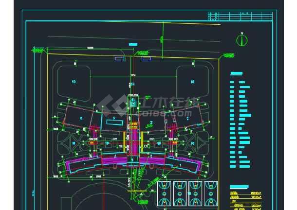 比较详细的某地学校建筑规划CAD定位图-图1