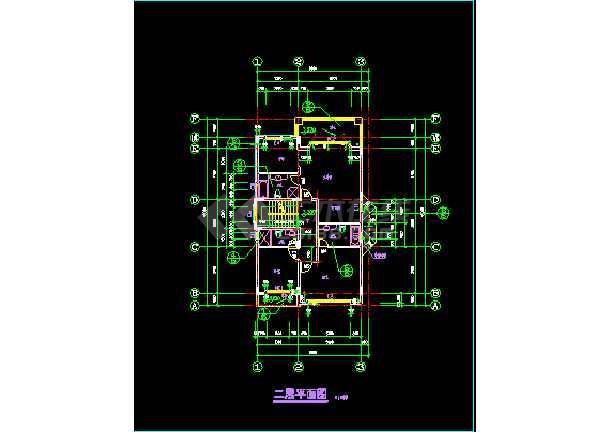 某小区水岸豪宝石A型别墅银河娱乐官网CAD图纸-图2