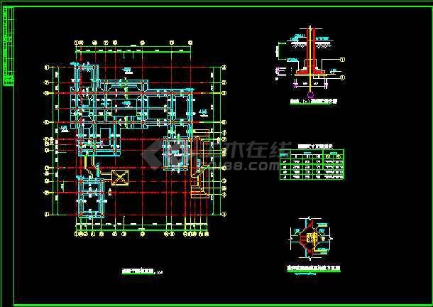 中国某市古典别墅施工图建设CAD图纸-图1