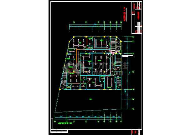 某市办公大楼室内照明强电银河娱乐官网图纸-图2