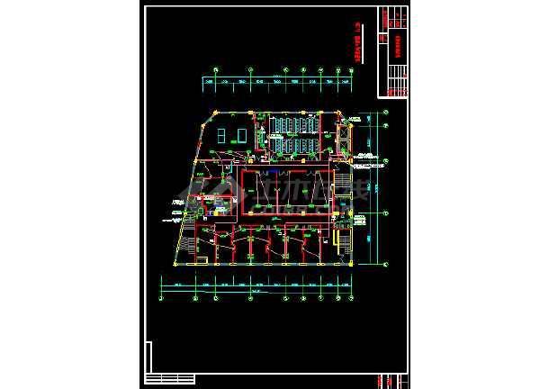 某市办公大楼室内照明强电银河娱乐官网图纸-图3