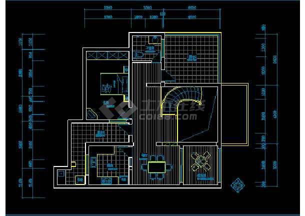 某小区别墅电气照明布线设计方案图-图2