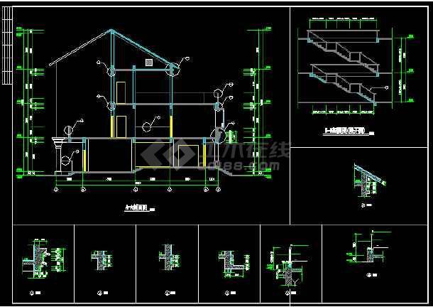 碧水天源别墅建筑结构图纸(含设计说明)-图2