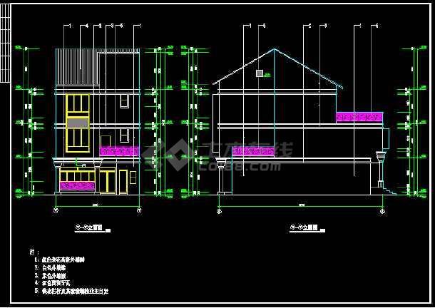 碧水天源别墅建筑结构图纸(含设计说明)-图3