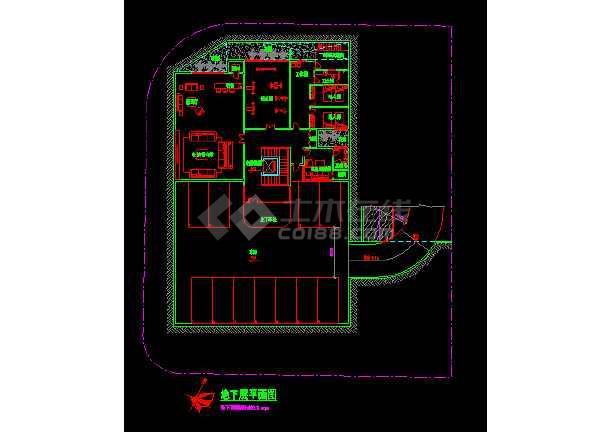 新加坡设计的某地方豪华别墅设计CAD图纸-图1