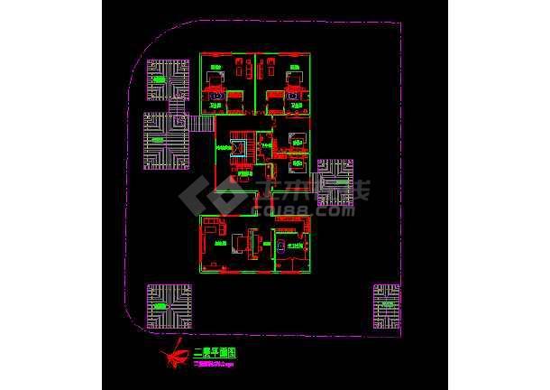 新加坡设计的某地方豪华别墅设计CAD图纸-图3