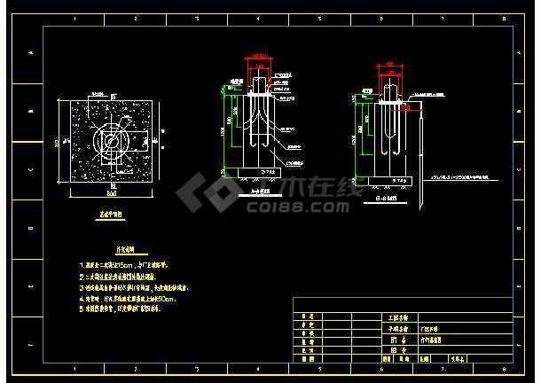 某地方厂区照明银河娱乐官网全套图纸CAD图纸-图3