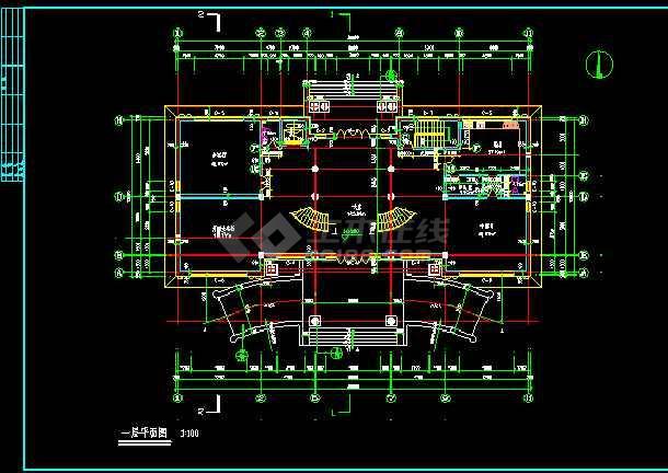 某市世财滨江文园联体别墅施工图CAD图纸-图1