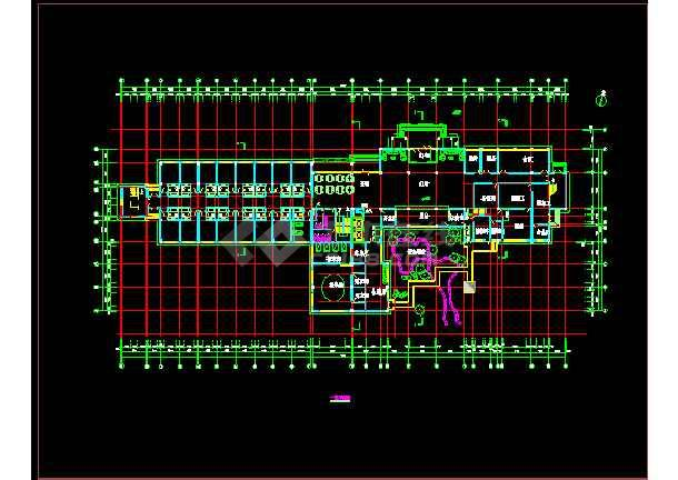 某地方温泉度假别墅施工图CAD图纸-图2