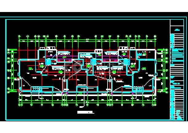 某市商住大楼及地下车库采暖通风系统cad施工设计图-图1