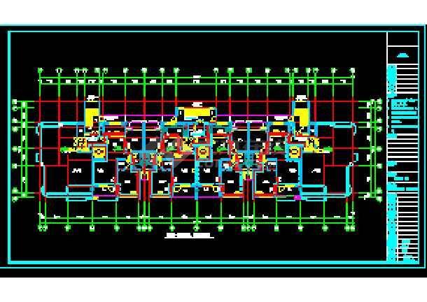 某市商住大楼及地下车库采暖通风系统cad施工设计图-图2