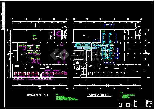 车间洁净系统暖通设计cad施工图-图1