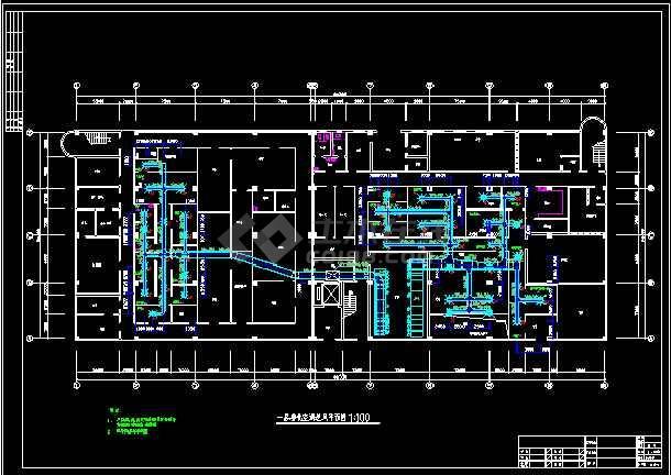 车间洁净系统暖通设计cad施工图-图2