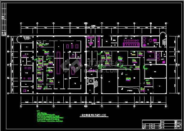 车间洁净系统暖通设计cad施工图-图3