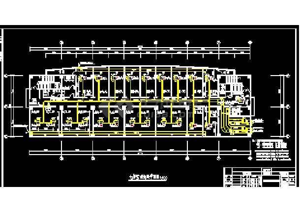 一整套建筑中央空调cad平面设计施工图(毕业设计)-图1