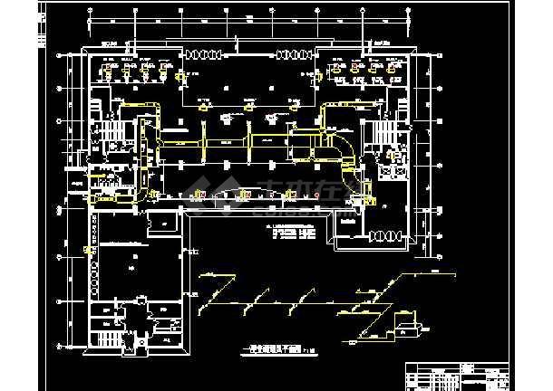 一整套建筑中央空调cad平面设计施工图(毕业设计)-图3