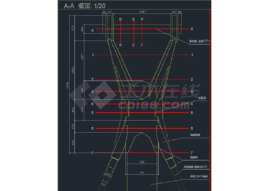 某地大型火车站站房钢结构施工图纸-图3
