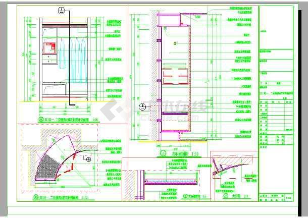 某地区五星级园林酒店装修设计cad全套施工图-图3