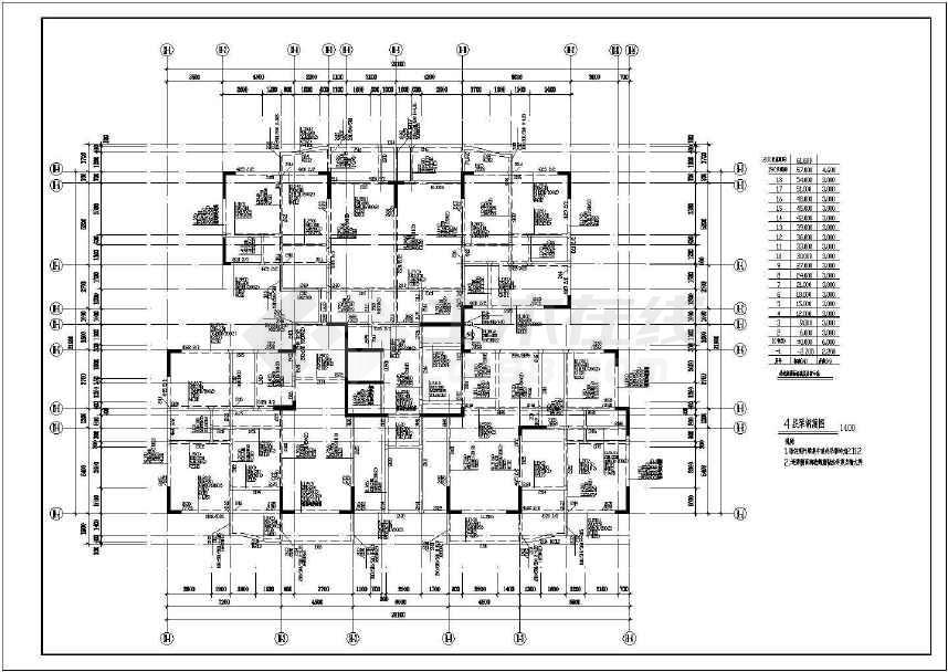 某地大型地上18层框剪结构设计图纸-图2