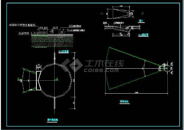 体育场地建筑cad施工图(全套)-图2