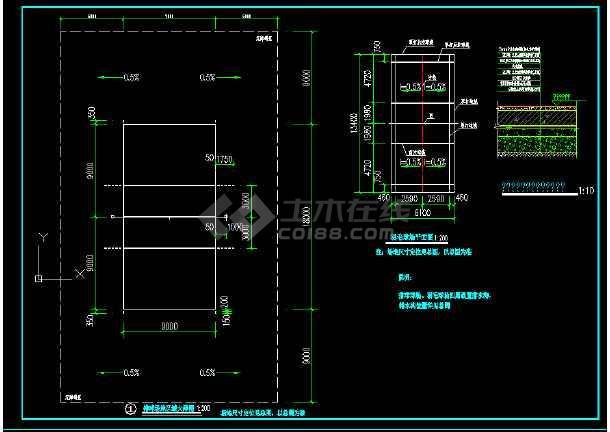 体育场地建筑cad施工图(全套)-图3