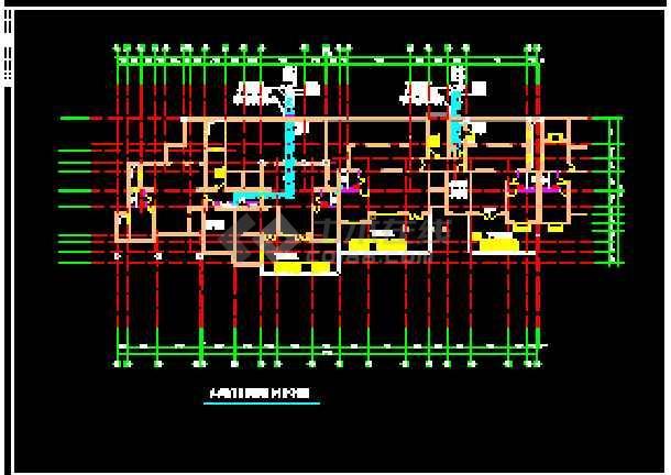 某高层商住办公楼cad平面暖通系统施工图-图1