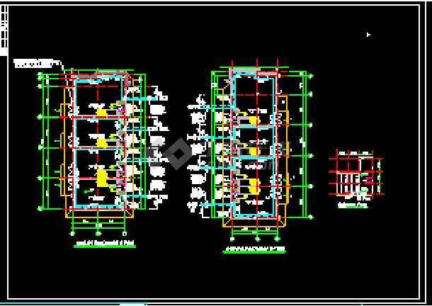 某高层商住办公楼cad平面暖通系统施工图-图3
