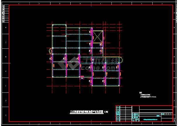 地上三层框架结构图书馆改造加固结构施工图(含加固设计说明)-图3