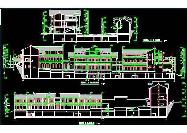 某市商业街全套建筑CAD施工平立面设计图纸-图1