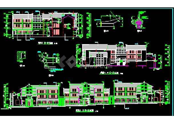 某市商业街全套建筑CAD施工平立面设计图纸-图2