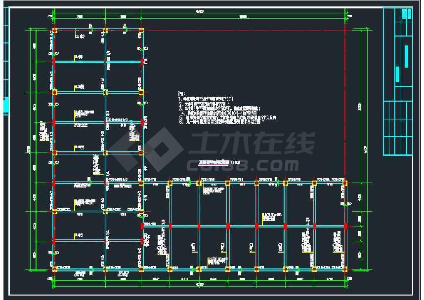 某公司地上2层框架库房结构设计图