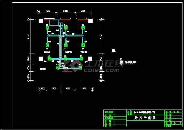 某大学PCR实验室cad暖通空调平面设计施工图-图2