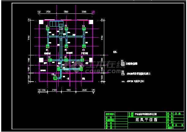 某大学PCR实验室cad暖通空调平面设计施工图-图3