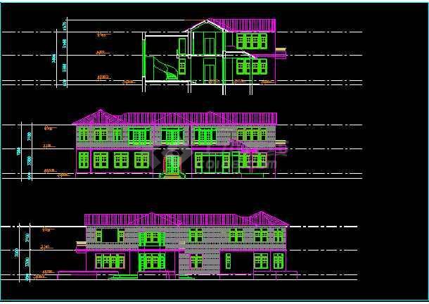 某度假村二层住宅楼暖通空调cad施工方案设计图-图1