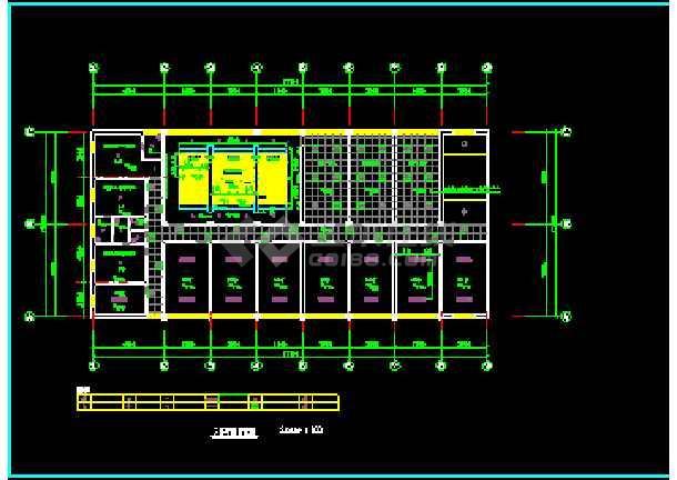 某综合楼建筑电气CAD设计平面施工图-图1