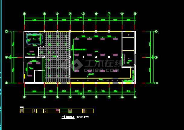 某综合楼建筑电气CAD设计平面施工图-图2