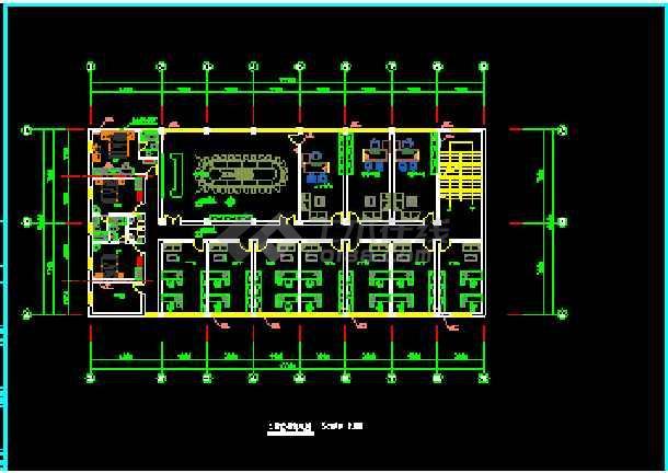 某综合楼建筑电气CAD设计平面施工图-图3