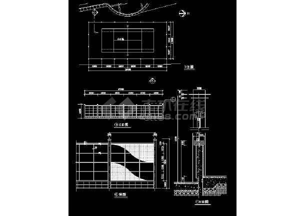 2018最新整理近50款园林景观围墙设计全套cad设计施工图-图1