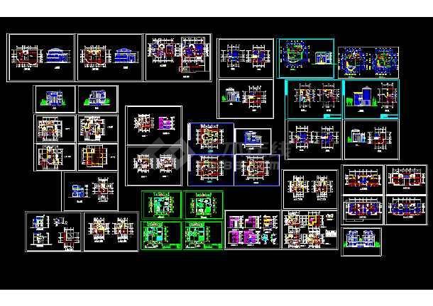 2018最新精选350多套新农村自建房样板房住宅别墅建筑设计CAD资料合集-图3