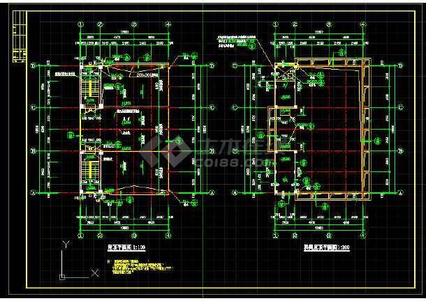某地四层乡镇私宅建筑cad施工图(共4张)-图1