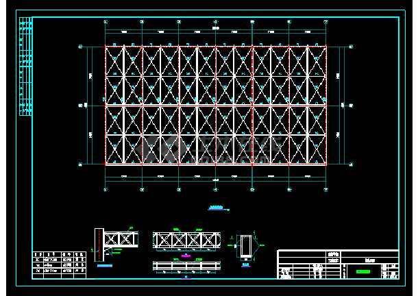 大跨度钢结构大棚结构cad设计图