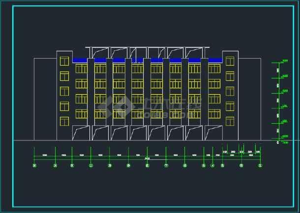 比较详细的某地教学楼建筑方案设计图-图1