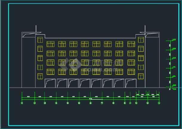 比较详细的某地教学楼建筑方案设计图-图3