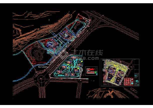 某区园林景观照明施工图CAD图纸-图1